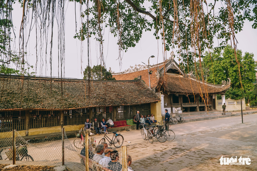 Huu Bang Village's Communal House in Thach That District, Hanoi. Photo: Pham Tuan / Tuoi Tre