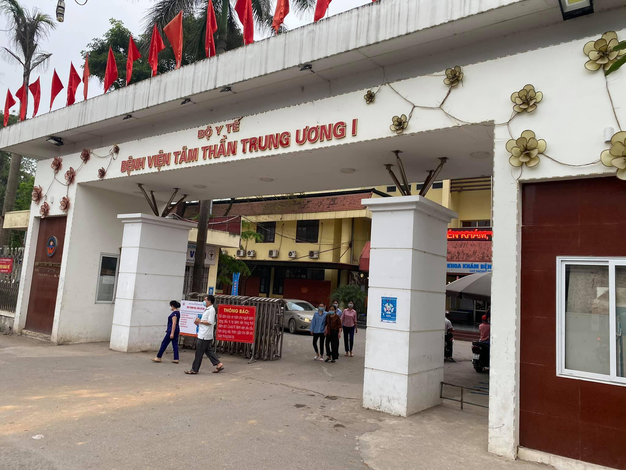 The entrance of National Mental Hospital 1 in Hanoi. Photo: Giang Long / Tuoi Tre
