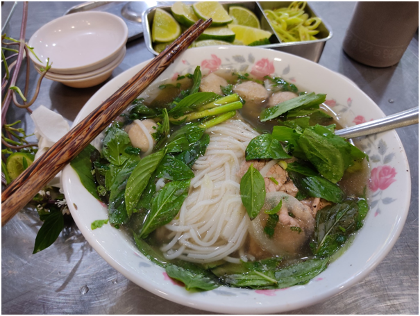 A photo provided by Darren Chua shows his favorite pho tai bo vien (pho beef slices and beef meatballs).