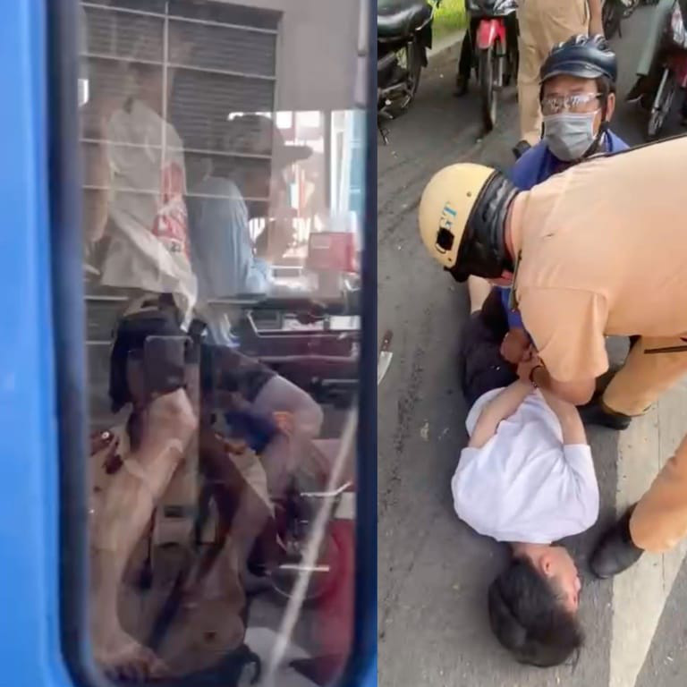 Police stop man holding bus driver at knifepoint under drug influence in Ho Chi Minh City