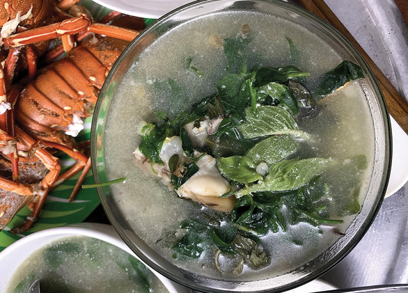 A bowl of seafood soup with assorted vegetables in Cham Islands in the central Quang Nam Province. Photo: B.D. / Tuoi Tre