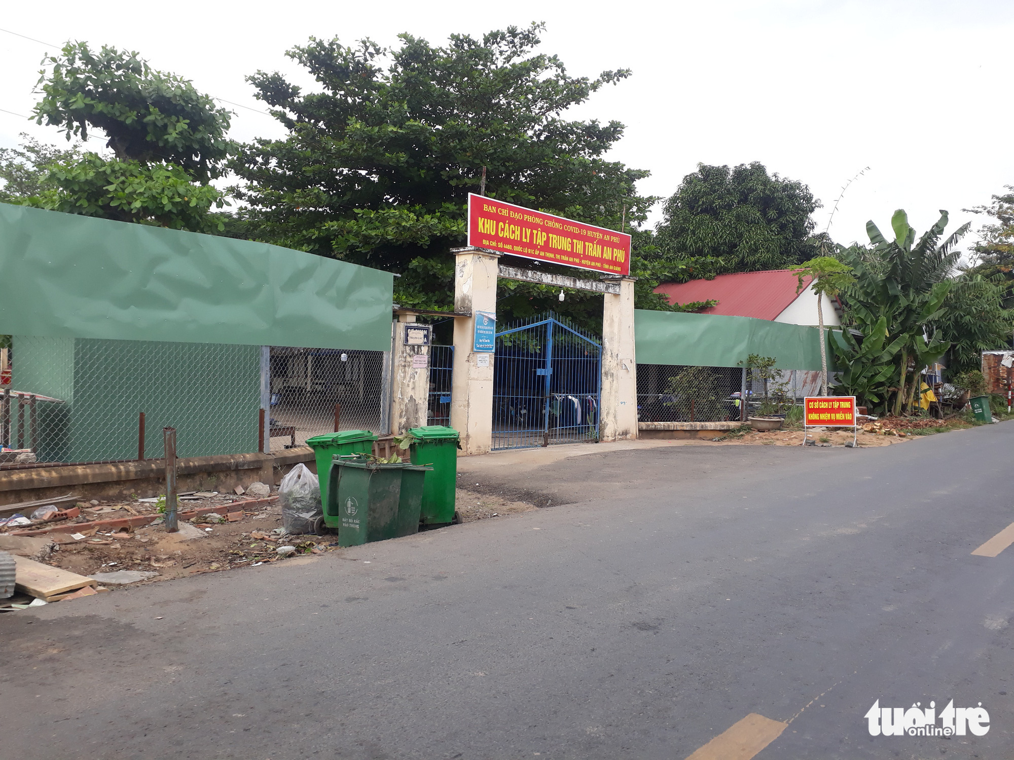 The quarantine facility in An Phu District, An Giang Province, Vietnam. Photo: Buu Dau / Tuoi Tre