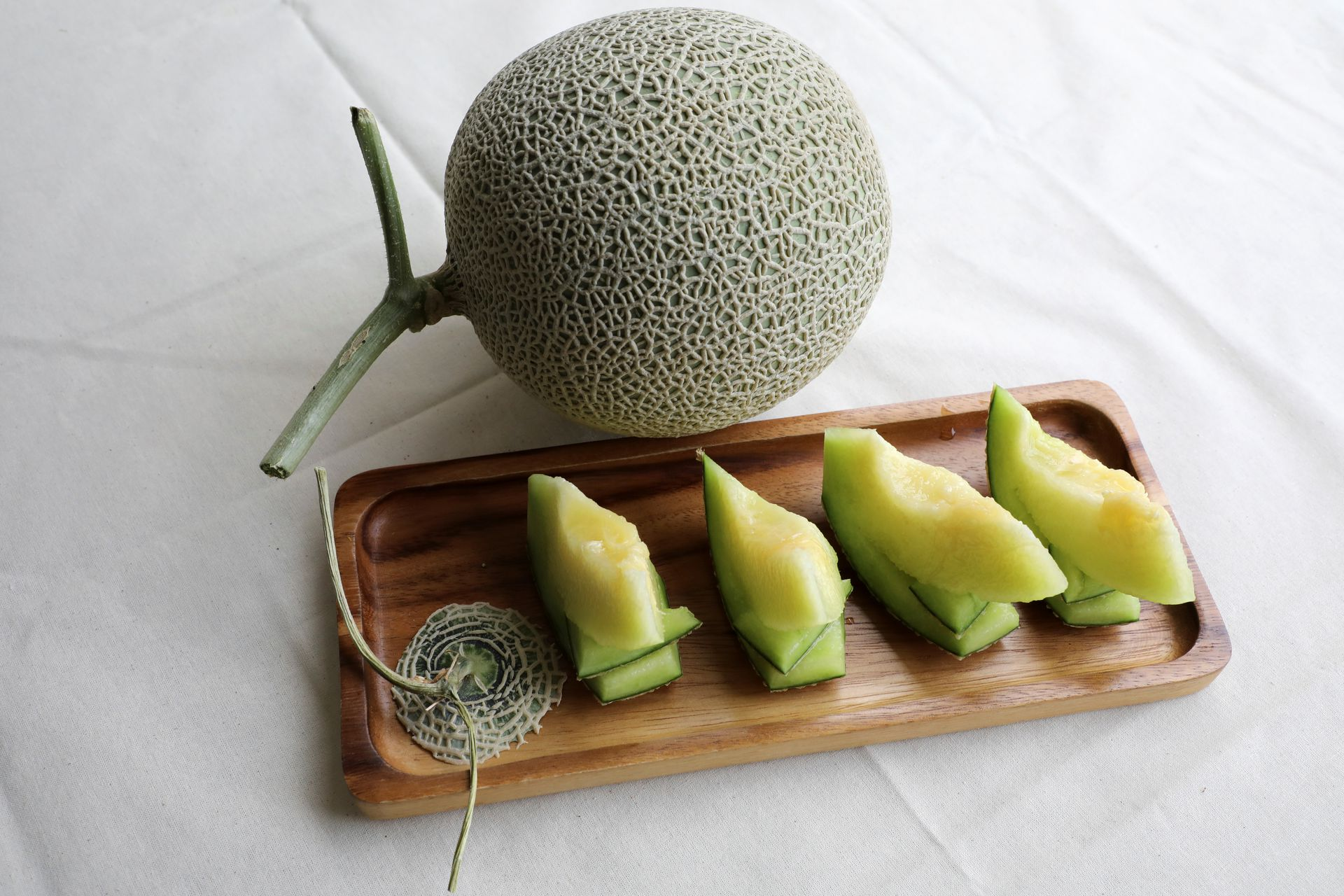 Japanese muskmelons are pictured at Mono Farm in Putrajaya, Malaysia April 8, 2021. Photo: Reuters