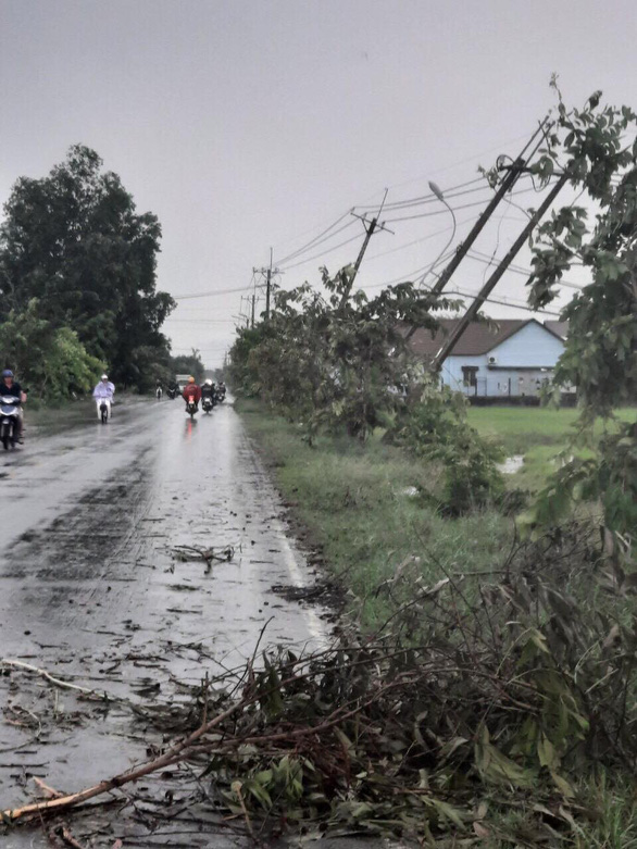 Power restored after thunderstorm knocks down utility poles in suburban Ho Chi Minh City
