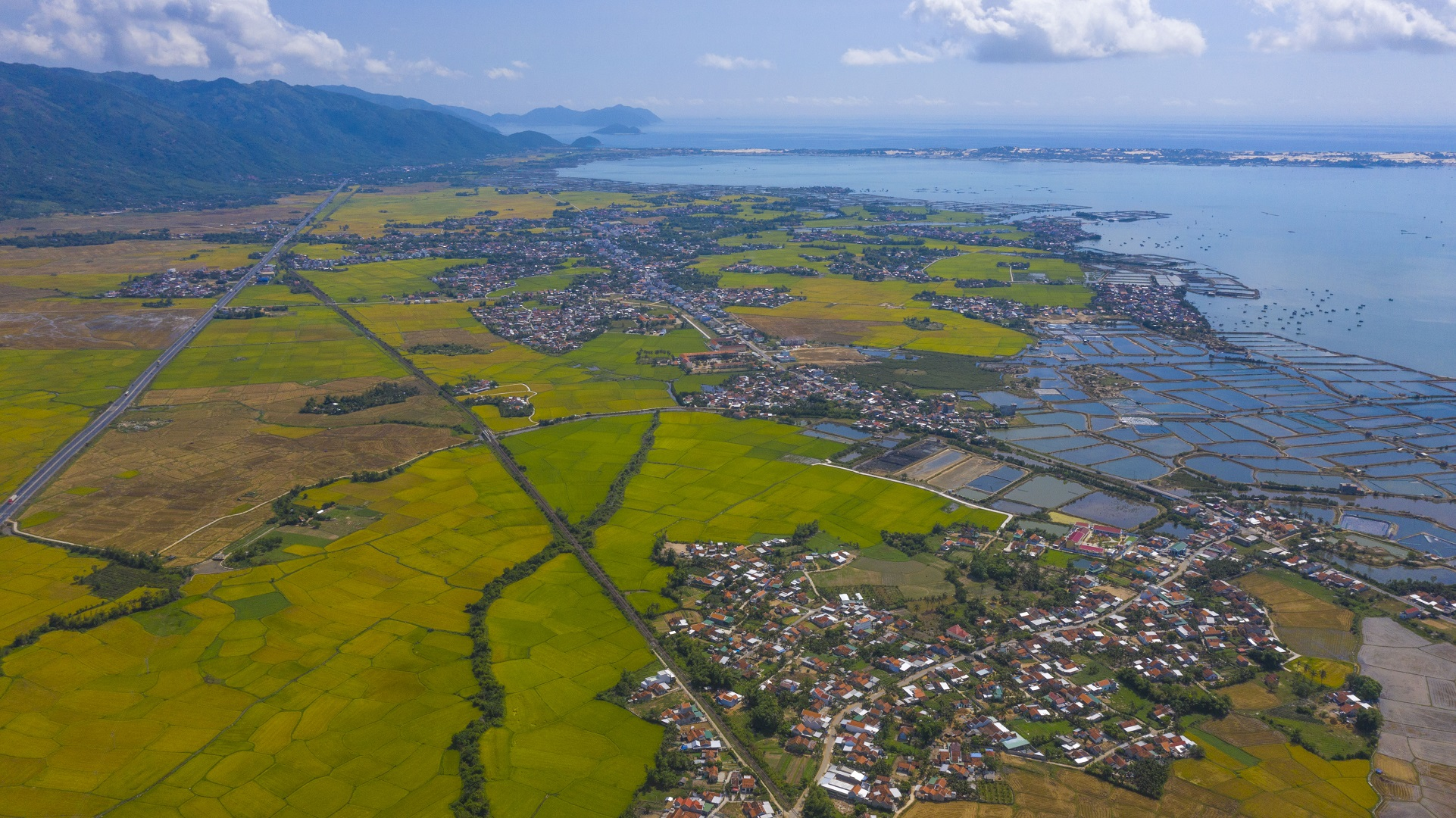 The central province of Khanh Hoa's Van Ninh District is seen from above. Photo: Quang Dinh / Tuoi Tre News