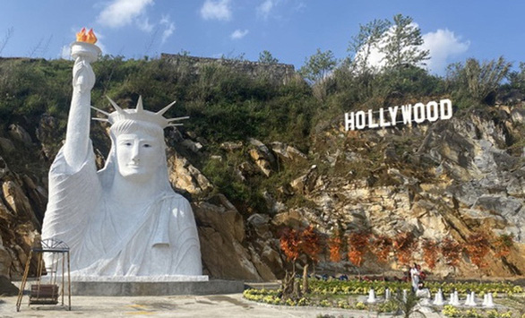 Officials to inspect construction of disproportionate Statue of Liberty replica in northern Vietnam