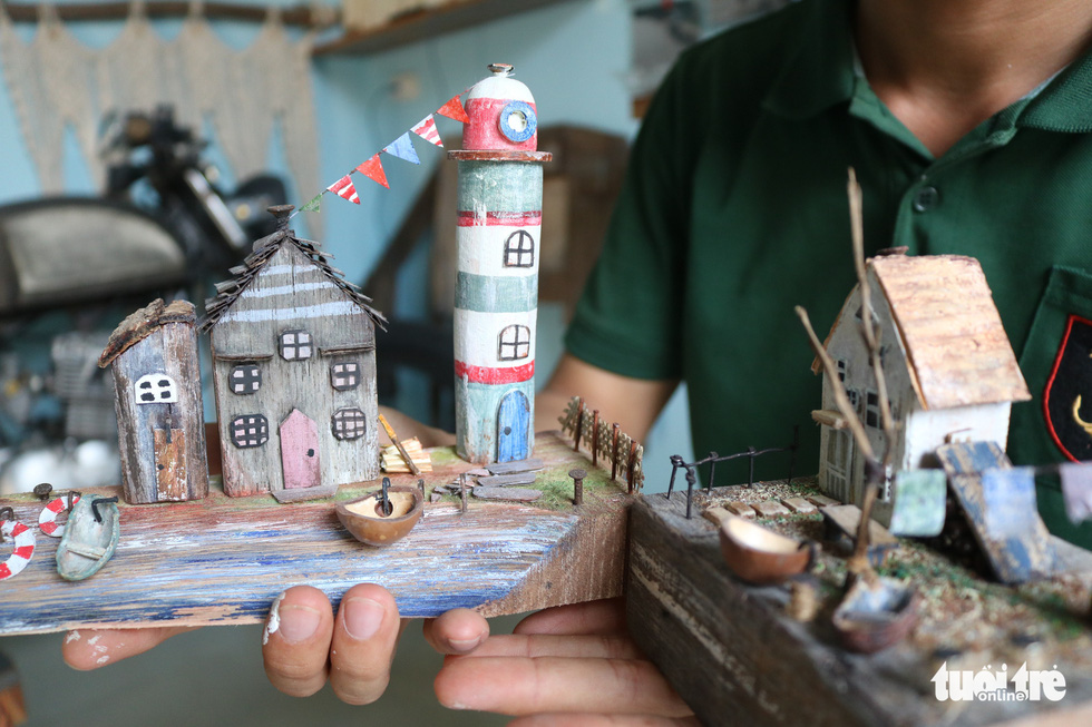 In Vietnam, young designer turns wood chip miniatures into side hustle