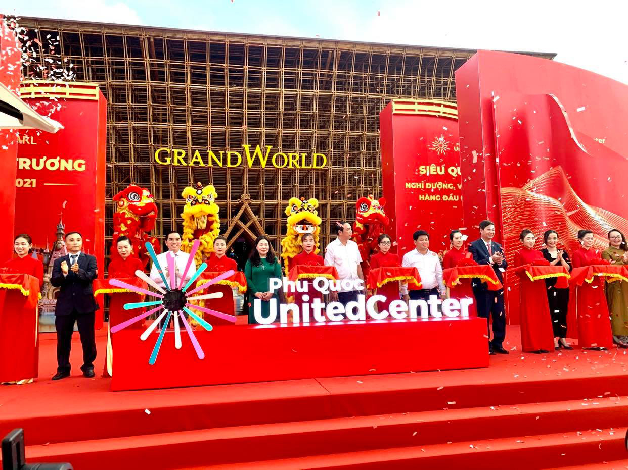 The inauguration of Phu Quoc United Center in Phu Quoc island city, Kien Giang Province, Vietnam, April 21, 2021. Photo: T.T.D. / Tuoi Tre