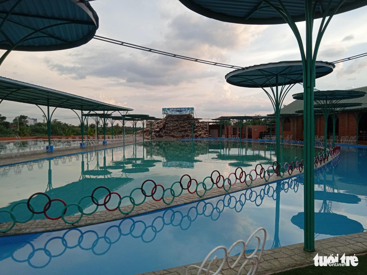 The swimming pool inside Son Thuy tourist area in Dak Lak Province, Vietnam, April 24, 2021. Photo: The The / Tuoi Tre