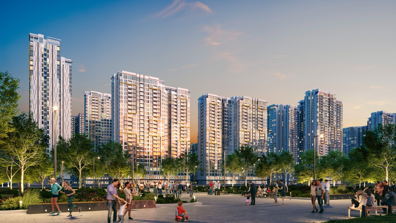 Masteri Centre Point has a vibrant and tranquil green area that is in harmony with its inspiring esthetic design.