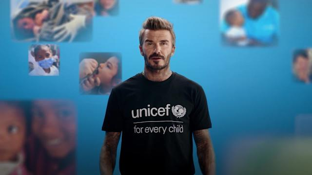 UNICEF Goodwill Ambassador David Beckham leads global vaccination drive during World Immunization Week