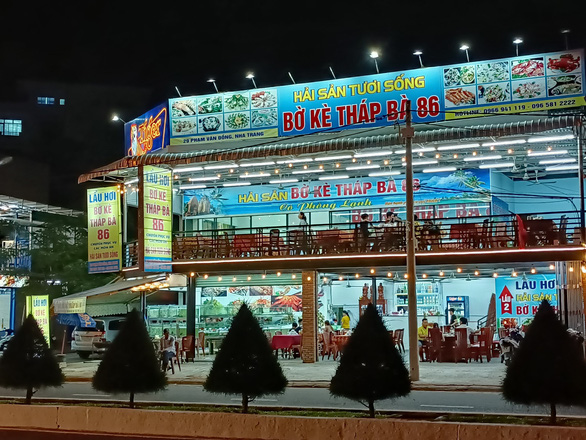 Thap Ba 86 seafood restaurant in Nha Trang City, Khanh Hoa Province. Photo: Minh Chien / Tuoi Tre