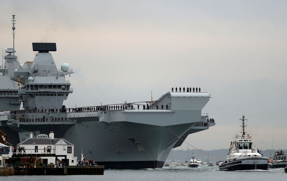 Britain's Queen Elizabeth aircraft carrier to visit Japan, S Korea on maiden deployment