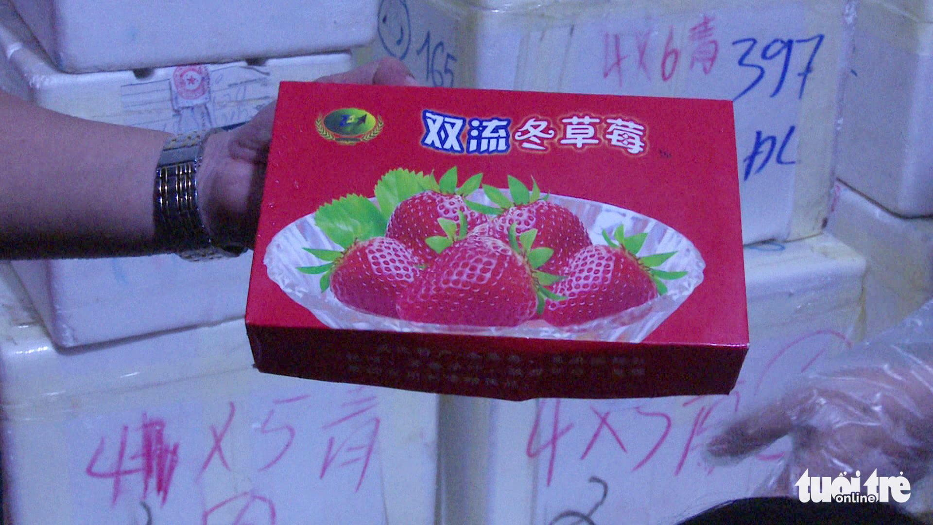 Chinese-packaged strawberries found smuggled to Vietnam's Da Lat by air