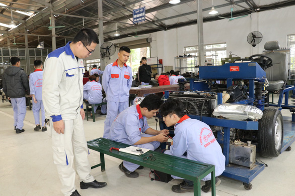 Discussing worker issues on Labor Day in Vietnam