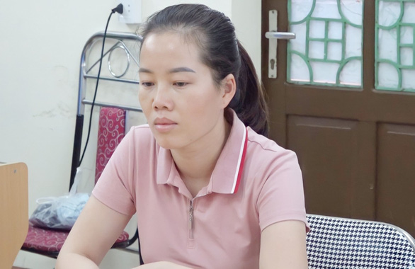 Giang Mi is seen in police custody in Lao Cai Province, Vietnam. Photo: Tuoi Tre Contributor
