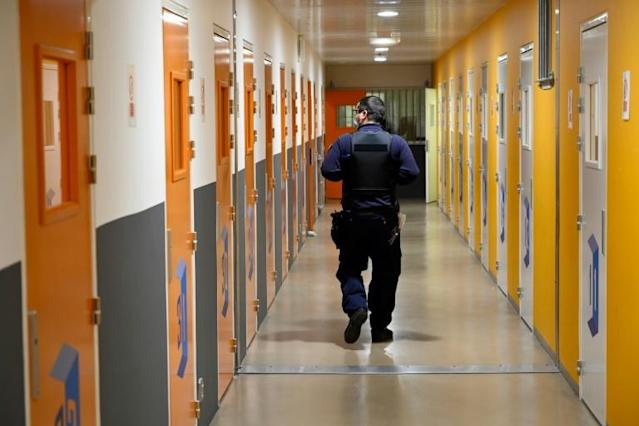 Once a year, inmates at Baumettes prison in the southern French city of Marseille get together with their children in the prison's large gymnasium for a day of fun, organised by support groups. Photo: AFP