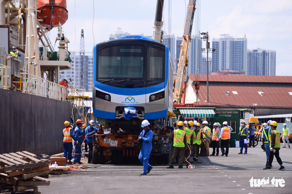 Two more Japanese-made metro trains arrive in Ho Chi Minh City