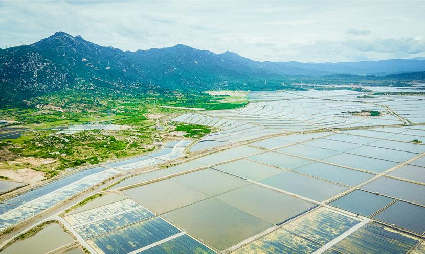 A bird's-eye view of Ninh Thuan Province, Vietnam. Photo: Ngo Tran Hai An / Tuoi Tre