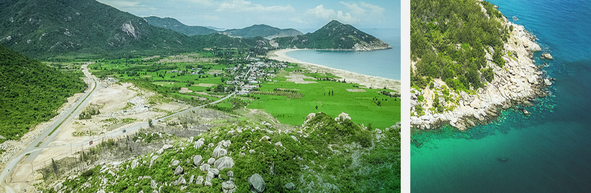 A bird's-eye view of the Trung Luong rocky beach located near the provincial road 639 in Phu Cat District, Binh Dinh Province, Vietnam. Photo: Ngo Tran Hai An / Tuoi Tre