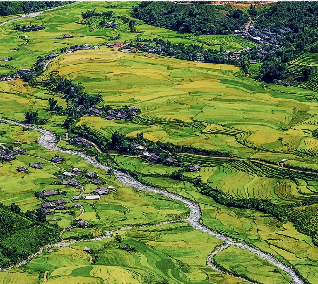 Terraced fields in Mu Cang Chai District, Yen Bai Province, Vietnam. Photo: Nam Tran / Tuoi Tre