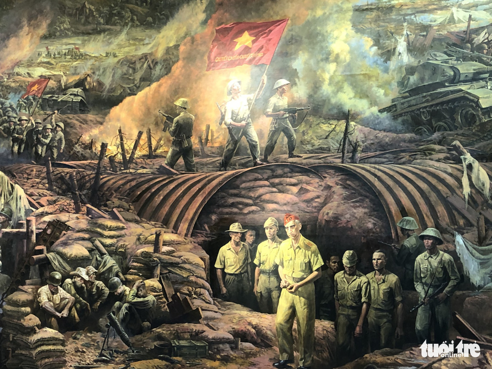 The larger-than-life war-themed mural named Vietnam's new fine arts 'miracle'