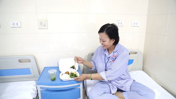 A patient at Vietnam's National Cancer Hospital in Hanoi. Photo: Ha Tran / Tuoi Tre