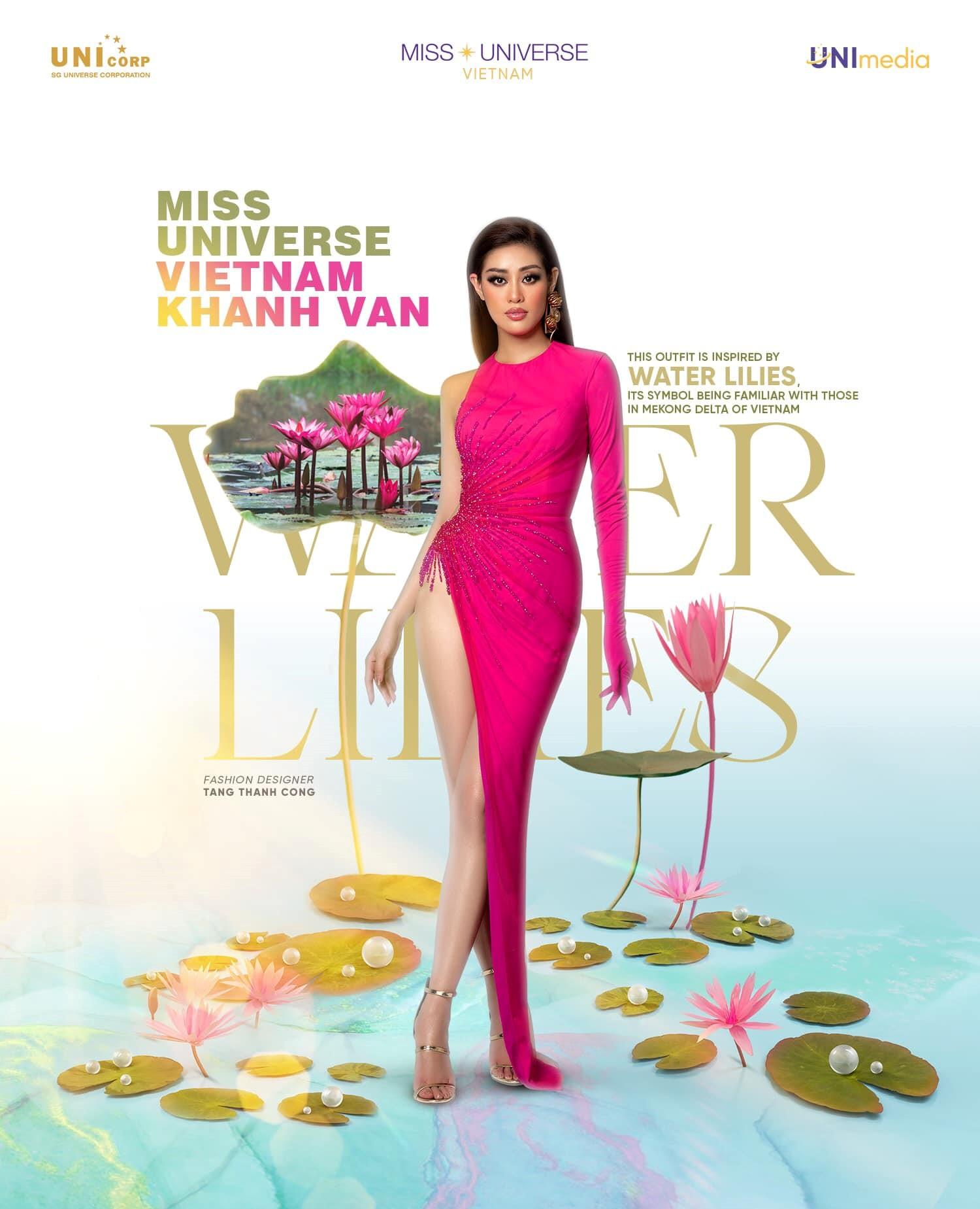 An artwork explains the inspiration of a dress Nguyen Tran Khanh Van wears at Miss Universe 2020. Photo: Instagram @khanhvannguyen25