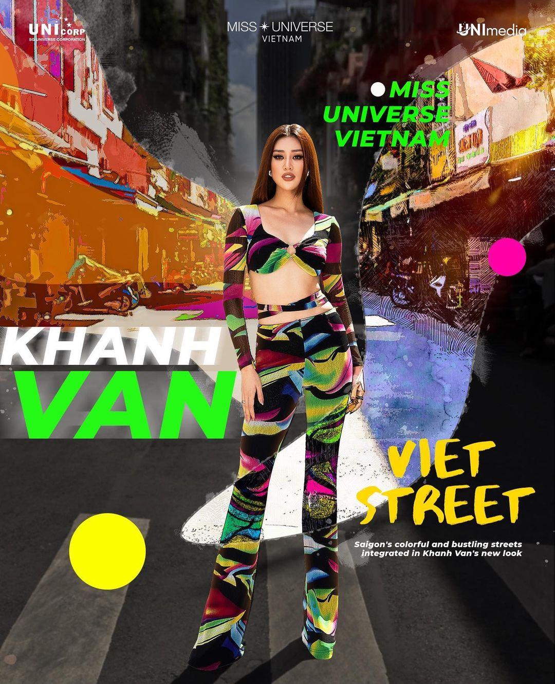 An artwork explains the inspiration of an outfit Nguyen Tran Khanh Van wears at Miss Universe 2020. Photo: Instagram @khanhvannguyen25