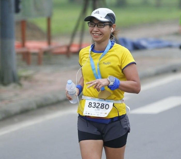 Lam Ngoc Quy runs in a competition in a supplied photo. Photo: N.Q.