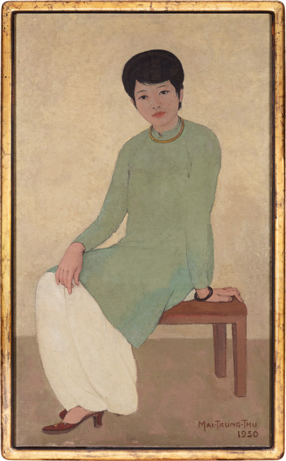 'Portrait of Mademoiselle Phuong' (1930) by Mai Trung Thu