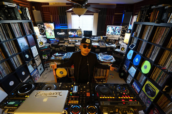DJ Phatbeatz is seen in his studio in Ho Chi Minh City, Vietnam in this supplied photo.