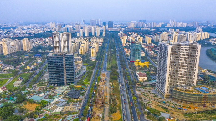 HCM City witnesses the rise of residential development projects. – Photo: Quang Dinh/Tuoi Tre