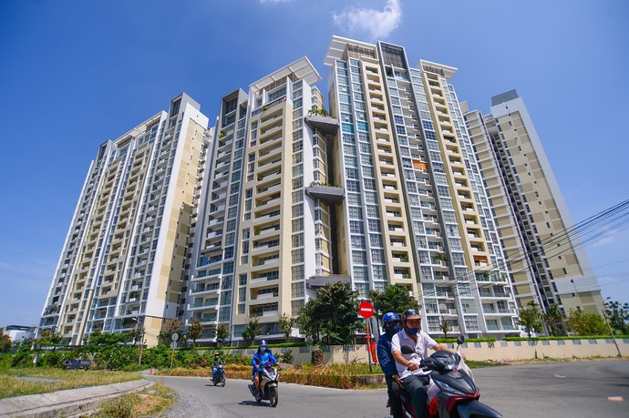 Blocks of apartments are seen in HCM City's outlying area. – Photo: Quang Dinh/Tuoi Tre