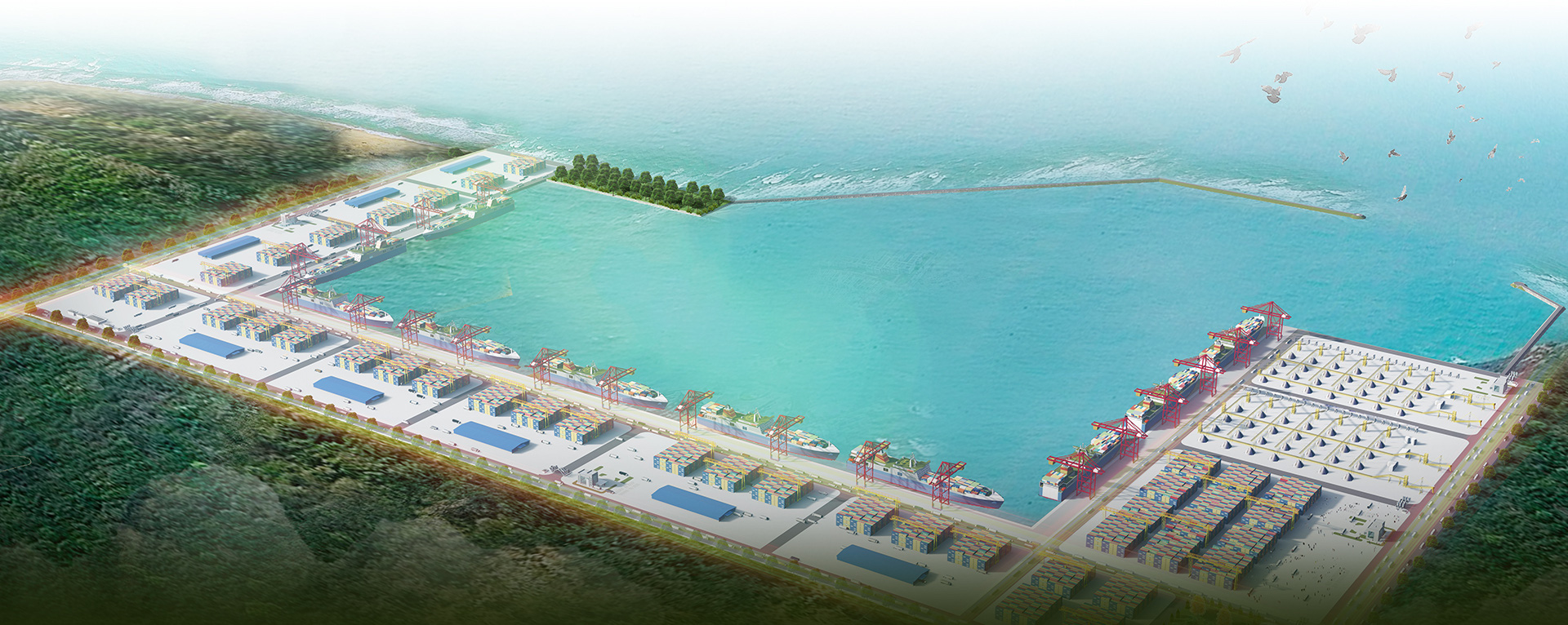 A model of My Thuy Harbour provided by Quang Tri Province People's Committee. The harbour is expected to be a gateway to Pacific Ocean for goods transported on the East-West Economic Corridor. Photo courtesy of Quang Tri Province Economic Zone Management Board