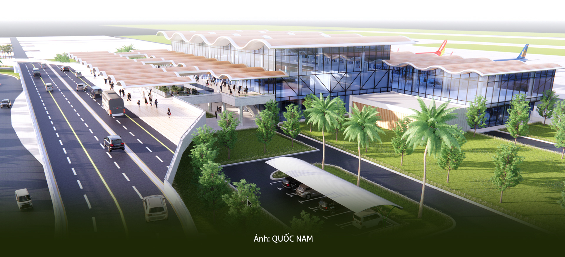 Design options for Quang Tri Airport provided by local authorities. Photo: Quoc Nam / Tuoi Tre