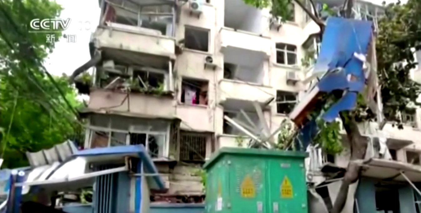 Gas pipe explosion kills 12 in central Chinese city, CCTV reports