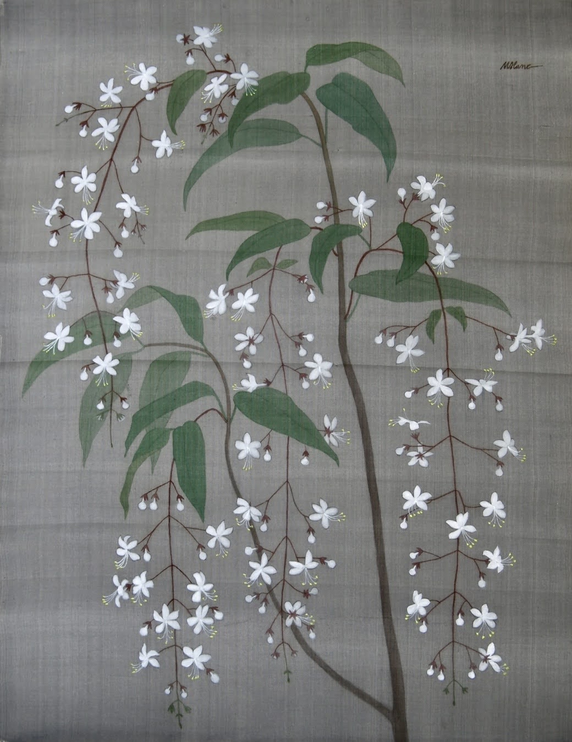 Nervilis plicata, silk painting, 60cmx88cm by the artist Hoang Minh Hang in a supplied photo.