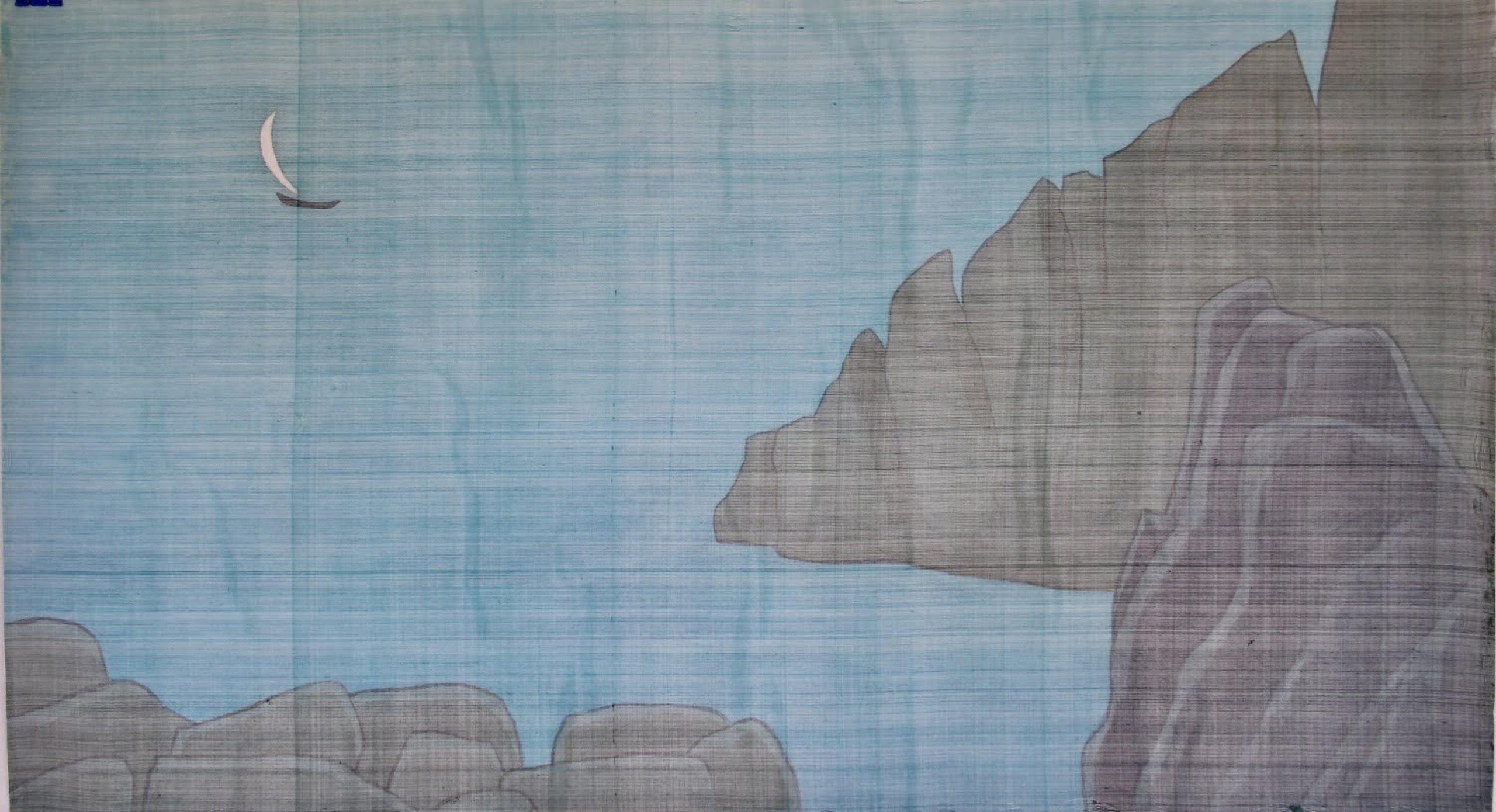Nha Trang Sea, silk painting, 87cmx157cm by the artist Hoang Minh Hang in a supplied photo.