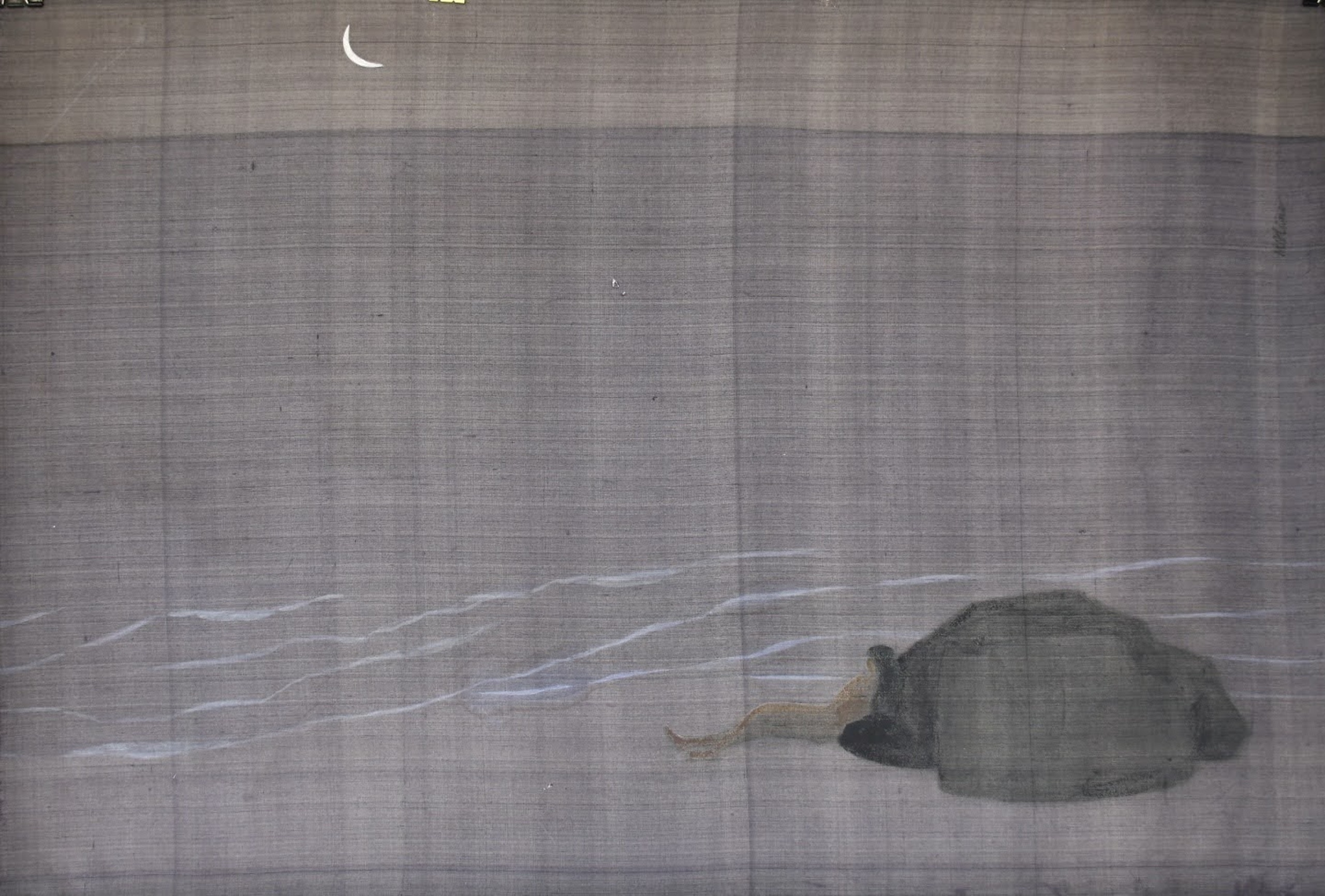Sea at night, silk painting, 78cmx118cm by the artist Hoang Minh Hang in a supplied photo.