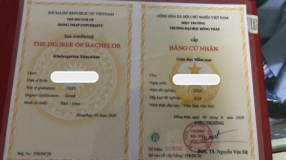 Forged higher education diplomas openly on sale on social media in Vietnam