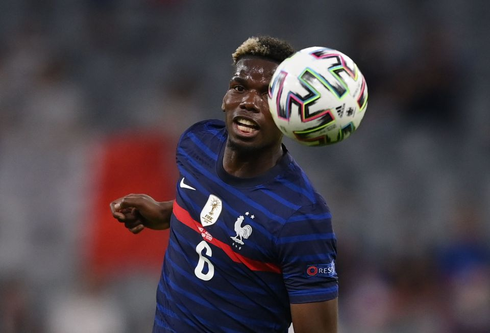 Soccer Football - Euro 2020 - Group F - France v Germany - Football Arena Munich, Munich, Germany - June 15, 2021 France's Paul Pogba in action. Pool via Reuters