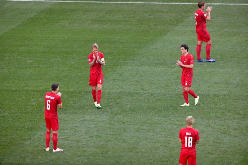 Belgium 'shell-shocked' in first half against Denmark - Martinez