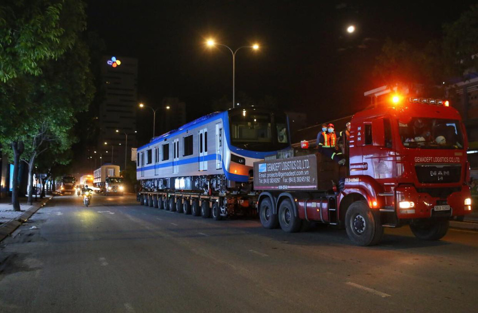 One more Japanese-made metro train reaches service station in Ho Chi Minh City