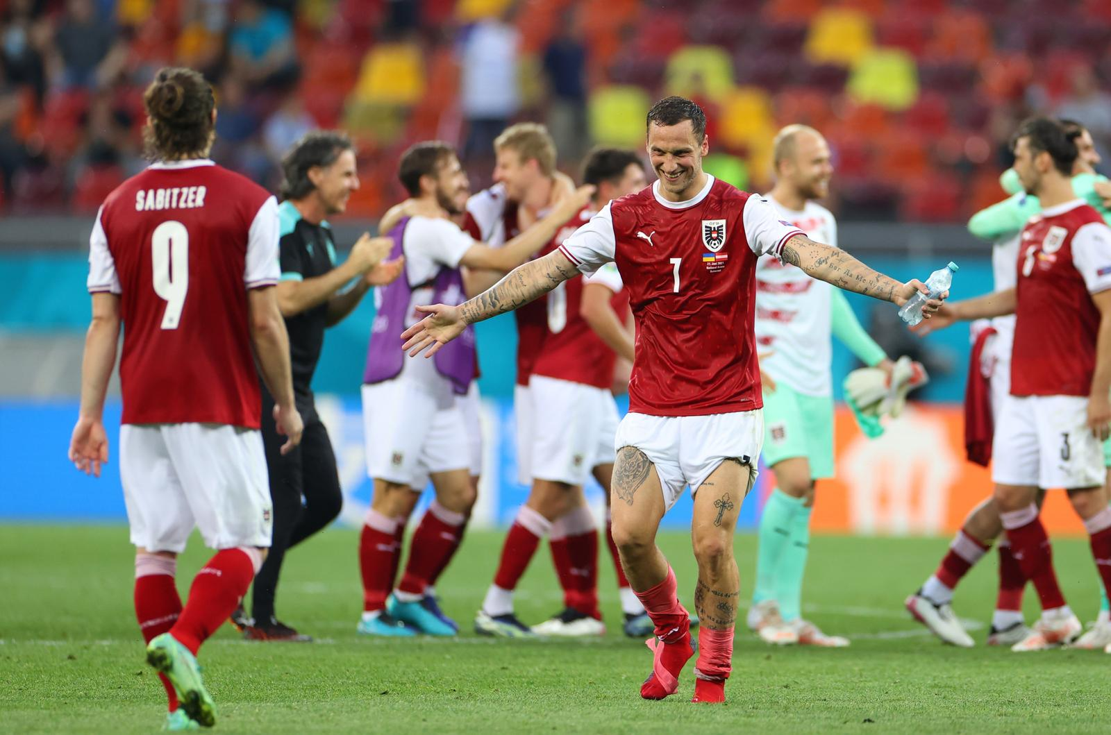 Austria advance to last 16 with win over Ukraine in final group game
