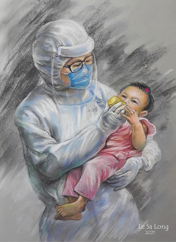 Artist's sketch collection celebrates Saigonese's altruism during hard times
