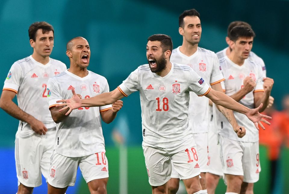 Spain conquer penalty demons to reach semis against gallant Swiss