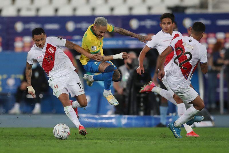 Soccer-Brazil beat Peru 1-0 to move into Copa America final