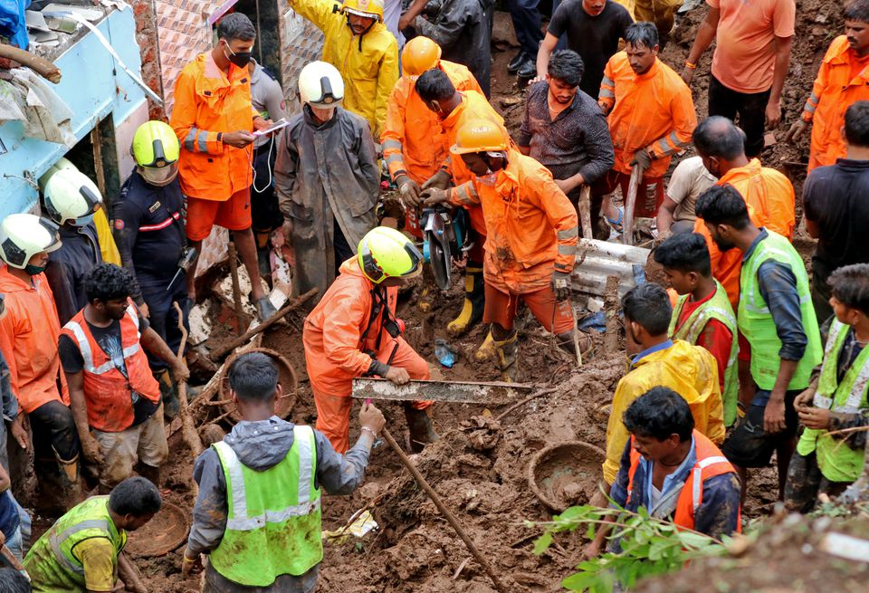 Landslides kill at least 25 in Mumbai after heavy rains
