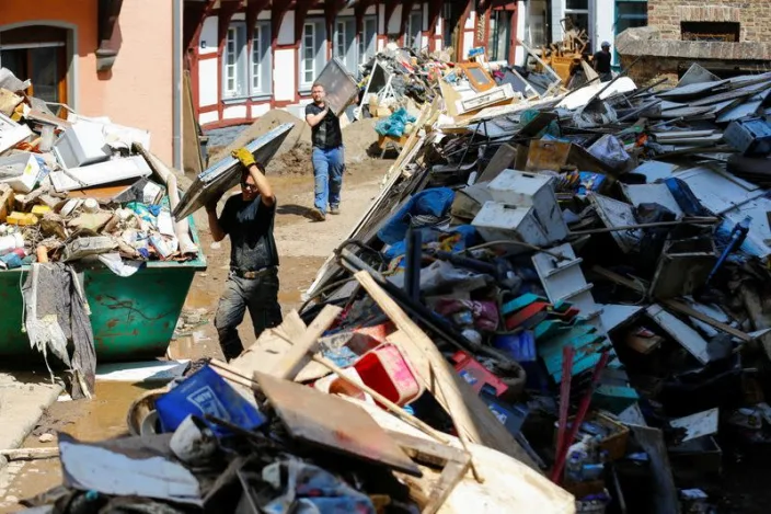 Aftermath of heavy rainfalls in Germany. Photo: Reuters